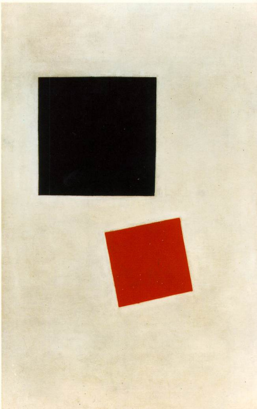 Kazimir Malevich. Black square and red square (painterly realism. The boy with the satchel. - Color masses in the fourth dimension).
