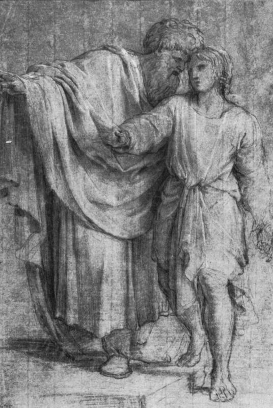 Эсташ Лесюэр. Иаков с сыном Иосифом