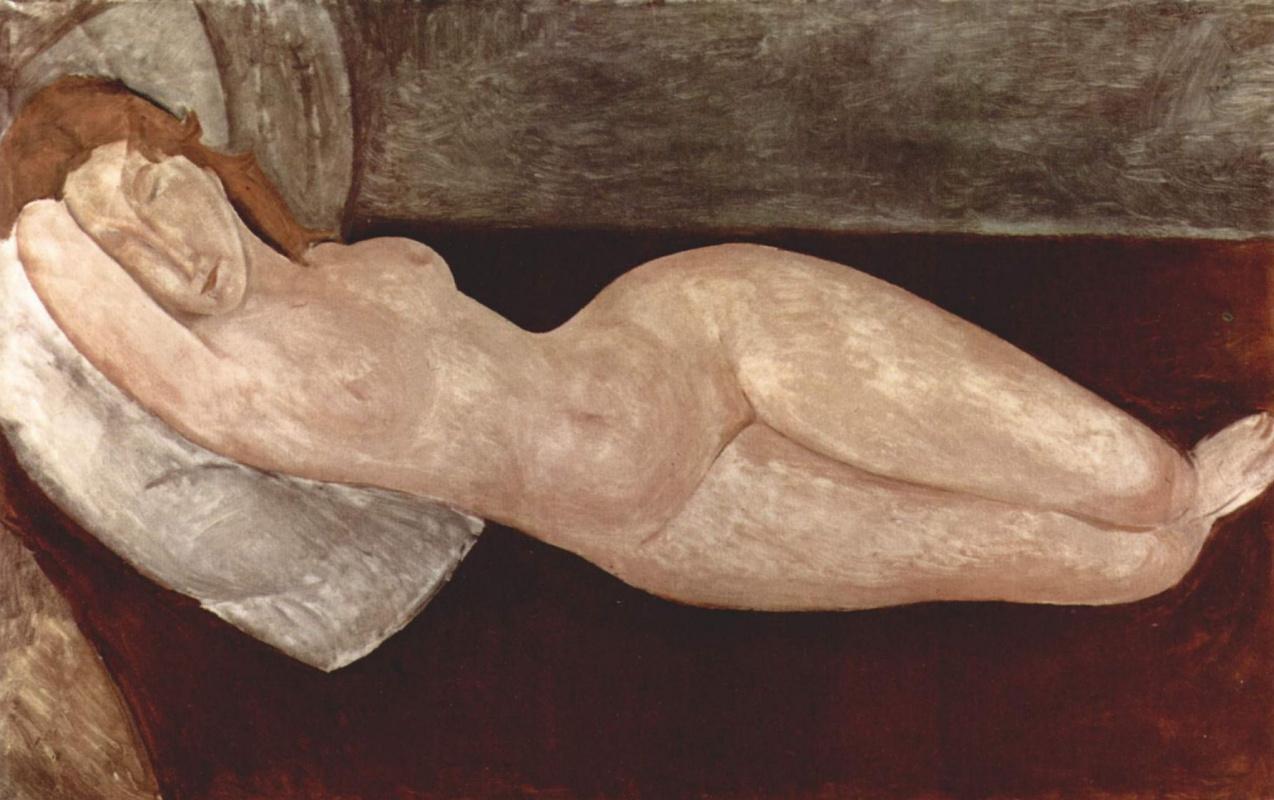Амедео Модильяни. Лежащая обнаженная