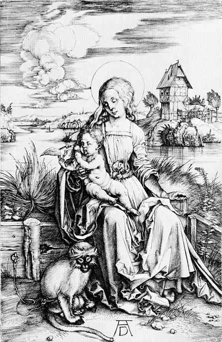 Альбрехт Дюрер. Мадонна с мартышкой