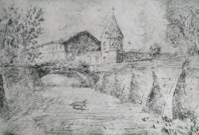 Sergei Nikolayevich Khodorenko-Zatonsky. Voronezh. A stone bridge