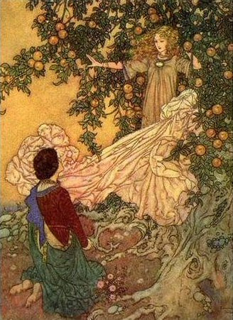 Edmund Dulac. The tale of the garden of Eden.