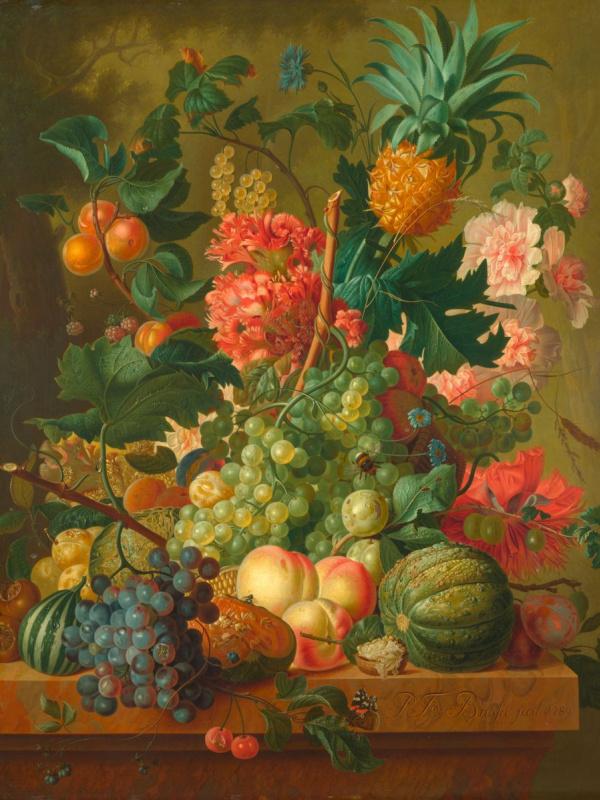Пауль Теодор ван Брюссель. Фрукты и цветы