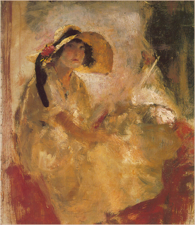 Армандо Спадини. Ерина Бернини в шляпе