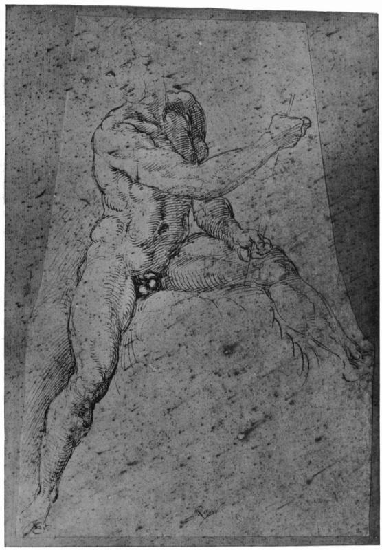 Raphael Santi. Sketch Nude