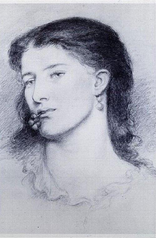 Dante Gabriel Rossetti. Portrait Of Agnes Manetti