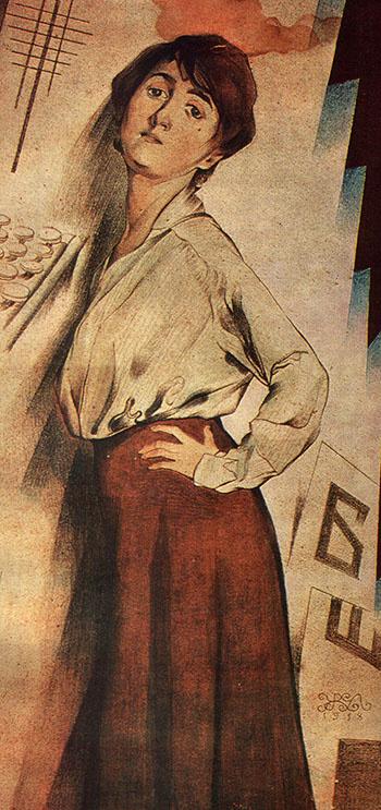 Mikhail Ivanovich the Beetle. Portrait of a Woman