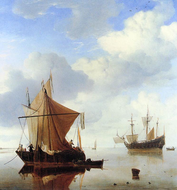 Виллем ван де Вельде Младший. Спокойное море