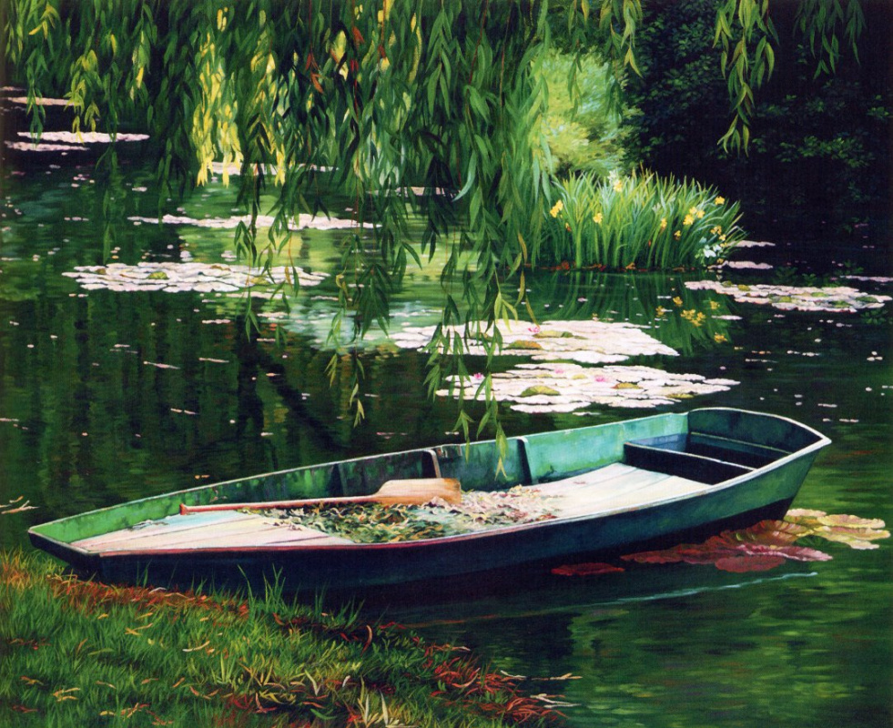 Дж Б Берков. Лодка на воде