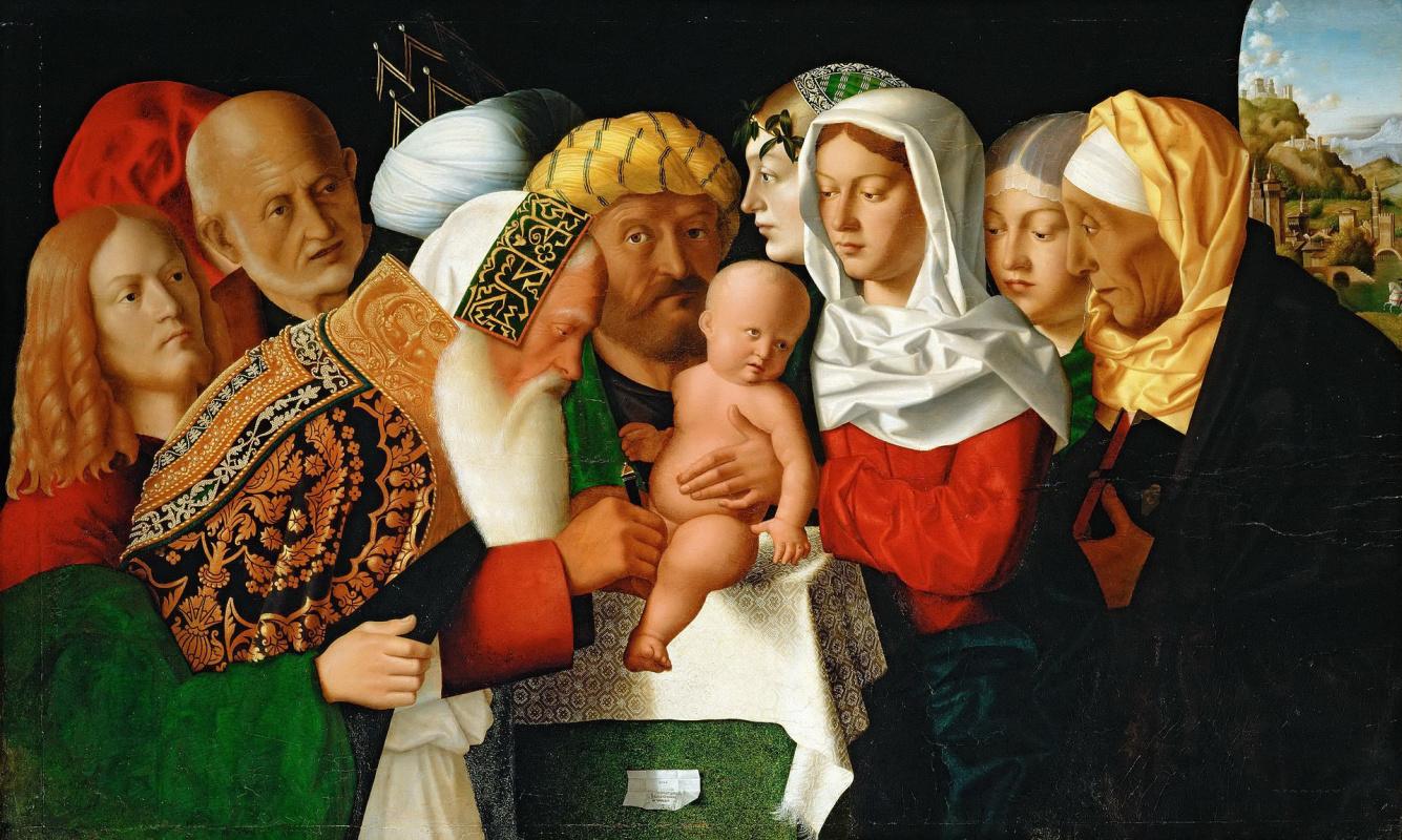 Veneto Bartolomeo. Circumcision of baby Jesus