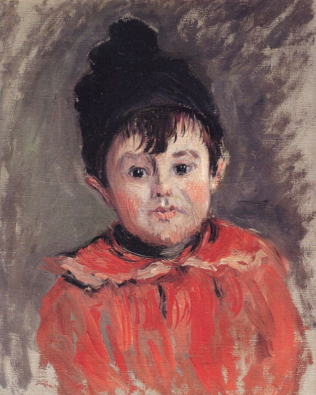 Claude Monet. Portrait of Michel beanie with pompom