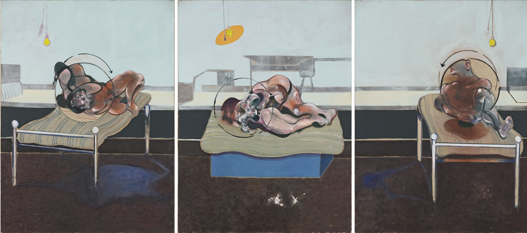Francis Bacon. Three studies for figures in bed