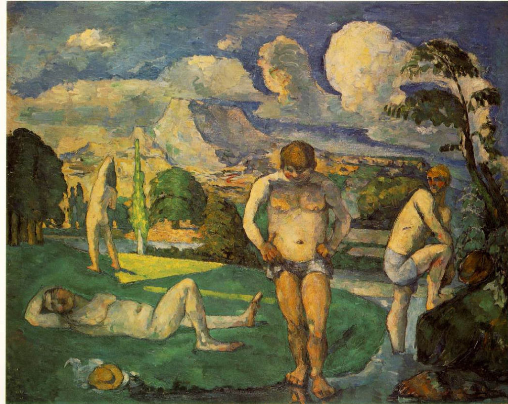 Paul Cezanne. Bathers on vacation