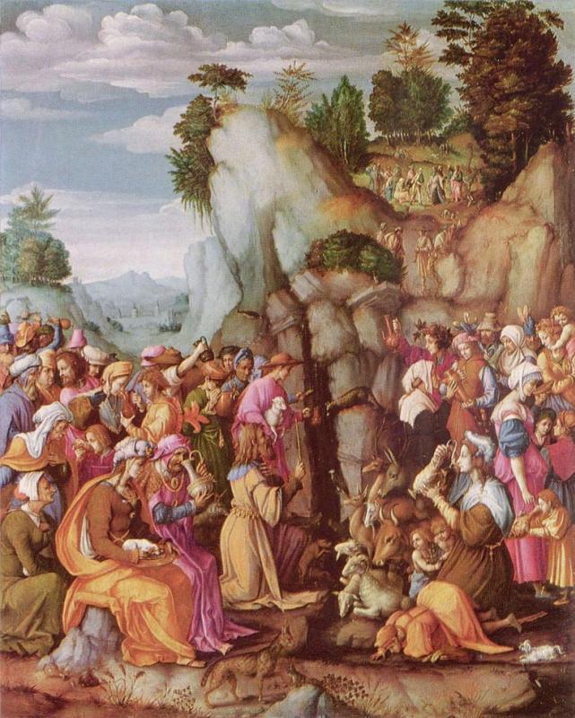 Моисей иссекает воду из скалы