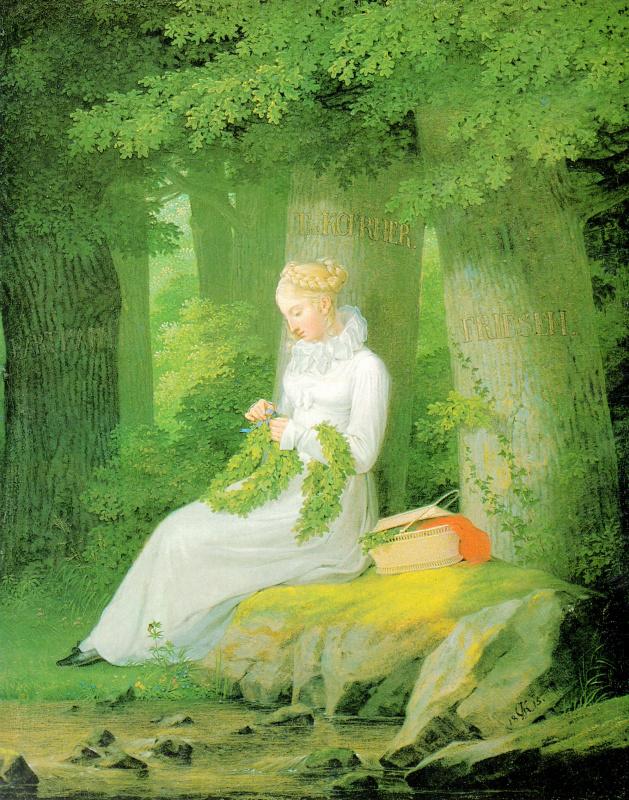 Георг Фридрих Керстинг. Плетение венка