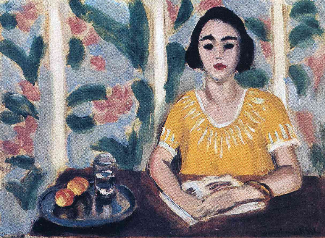 Анри Матисс. Читающая женщина с персиками
