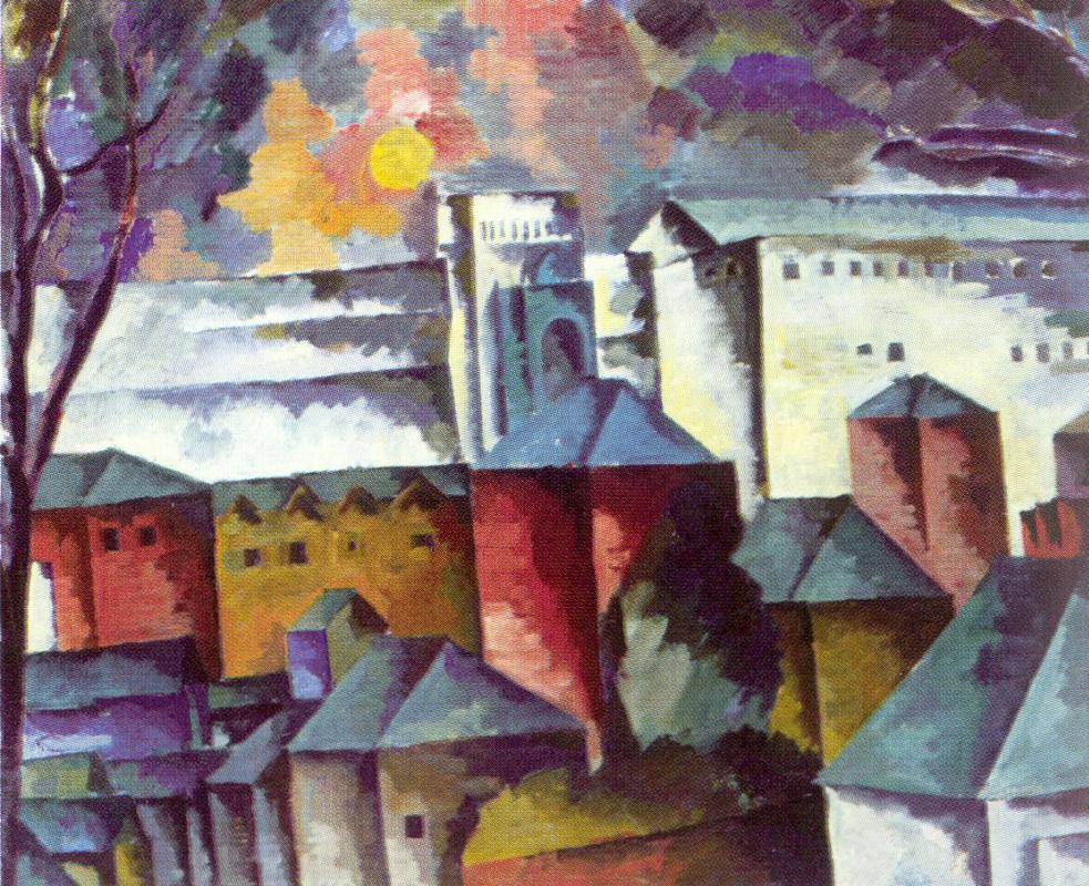 Аристарх Васильевич Лентулов. Пейзаж с монастырской стеной