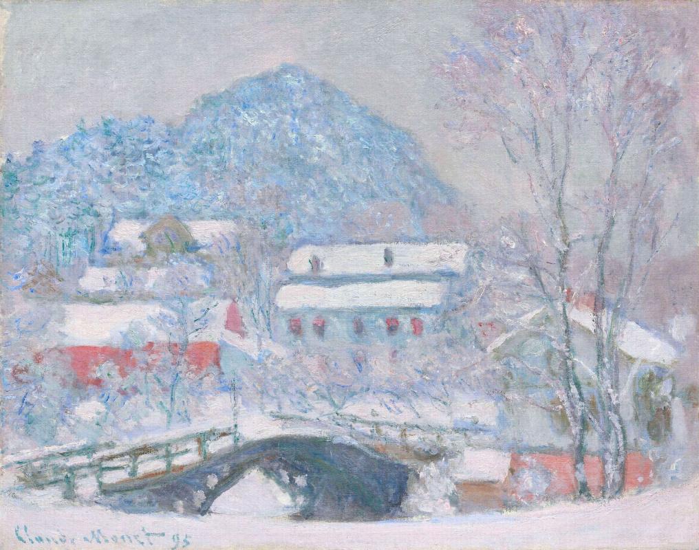 Клод Моне. Норвегия, деревня Сандвикен в снегу