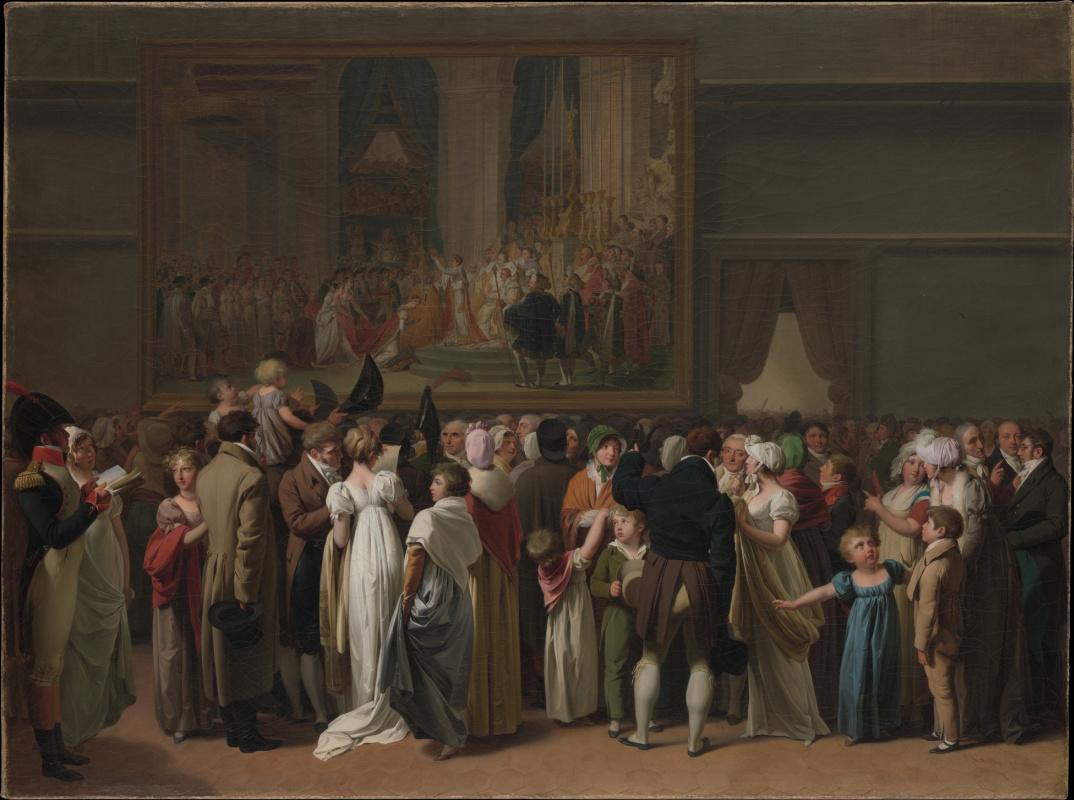 Луи-Леопольд Бойи. Публичный просмотр «Коронации» Давида в Лувре