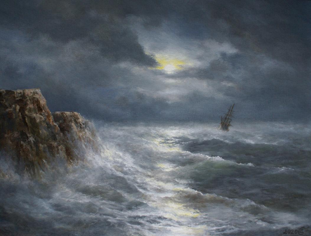 Сергей Владимирович Дорофеев. Moon over the sea