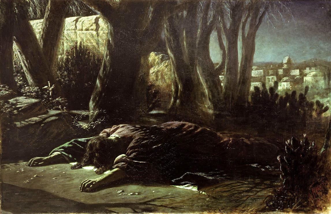 Christ in the garden of Gethsemane by Vasily Grigorievich Perov ...