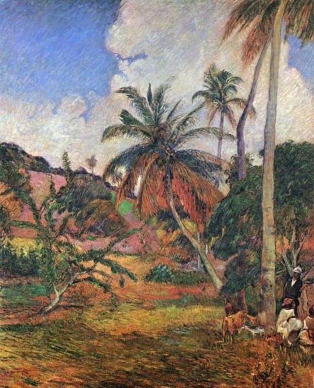 Поль Гоген. Пальмы и горлянковые деревья на Мартинике