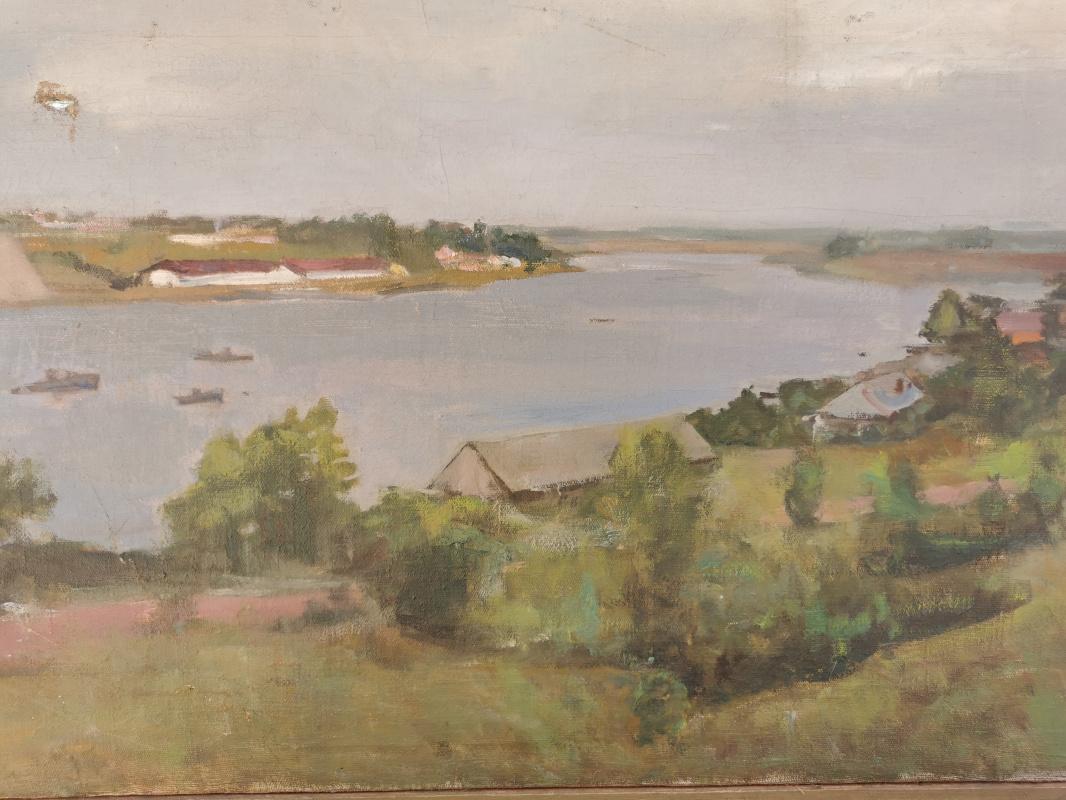 Konstantin Sergeevich Belokurov. Near the river Narova - Ivan city