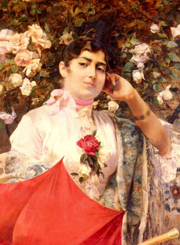 Хосе Гарсиа Рамос. Красный зонт