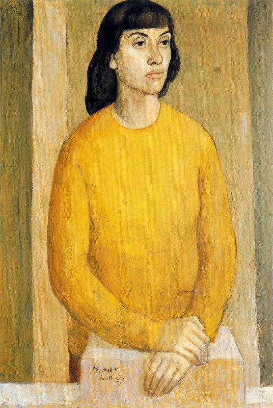 Мануэль Гиль. Женщина в желтом