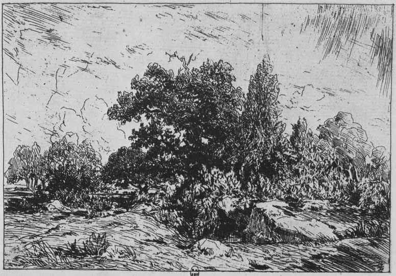 Pierre-Etienne-Theodore Rousseau. The views of the plateau, Bellecroix