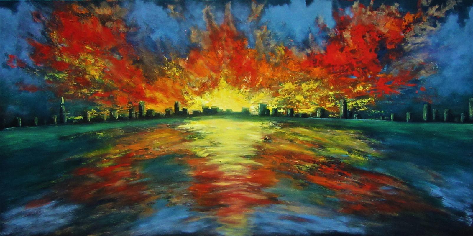 Natalia Viktorovna Tyuneva. Sunset over the city