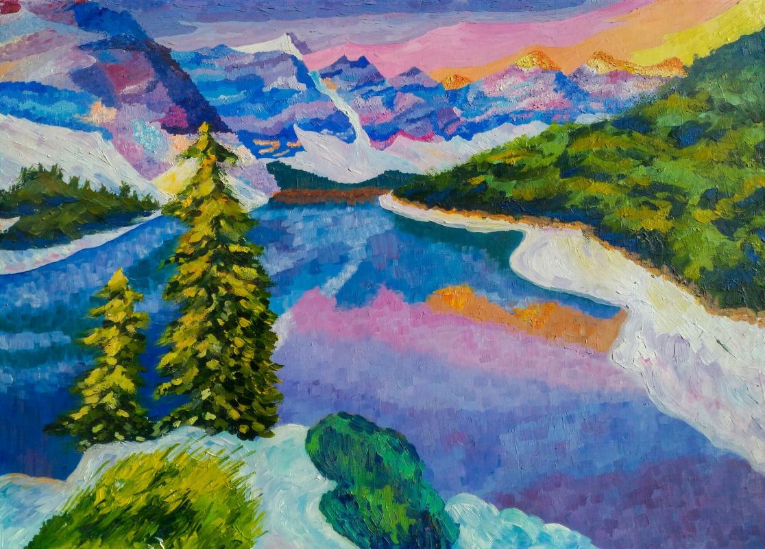 Alina Chekrygina. Moraine lake