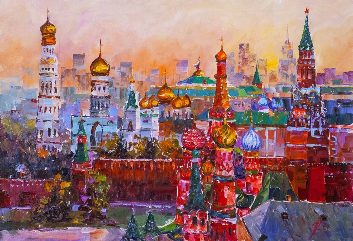 Jose Rodriguez. Golden-domed Moscow. JR version