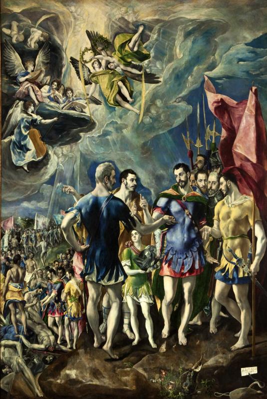 Эль Греко (Доменико Теотокопули). Мученичество святого Маврикия и Фиванского легиона