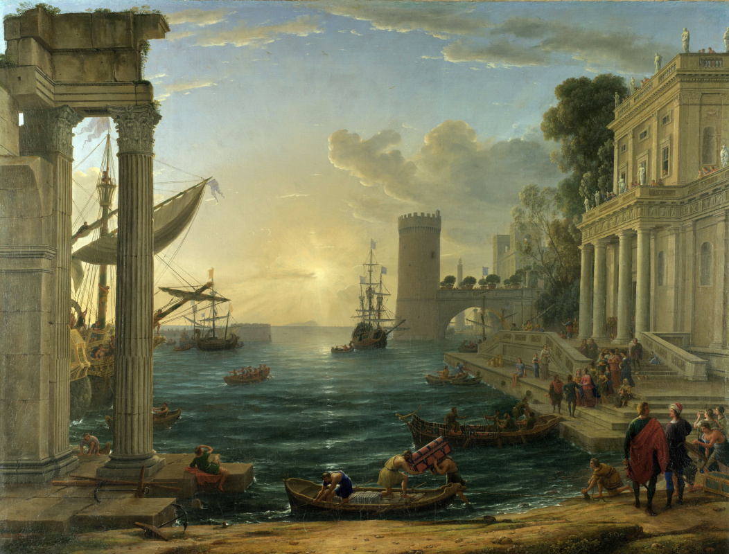 Claude Lorrain. Departure of the Queen of Sheba