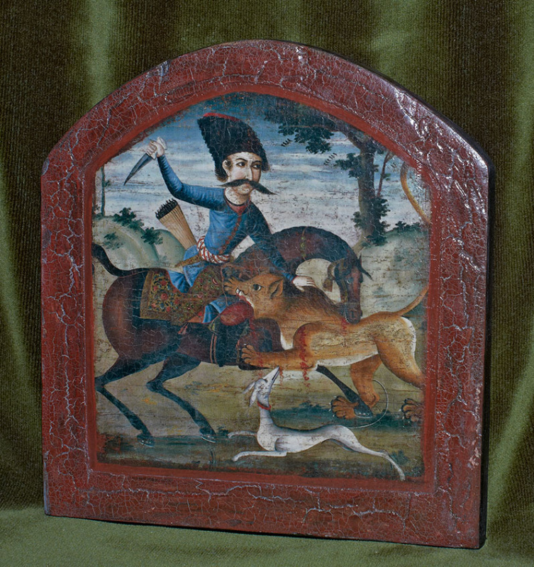 Author Unknown. Hunter on Horseback Attacked by a Lion