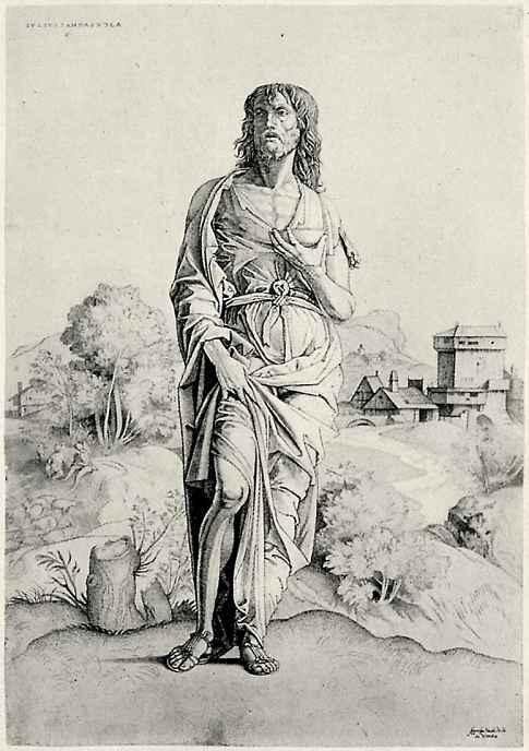Джулио Кампаньола. Святой Иоанн Креститель