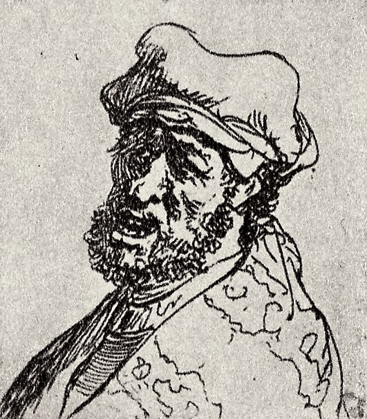 Rembrandt Harmenszoon van Rijn. Man with open mouth