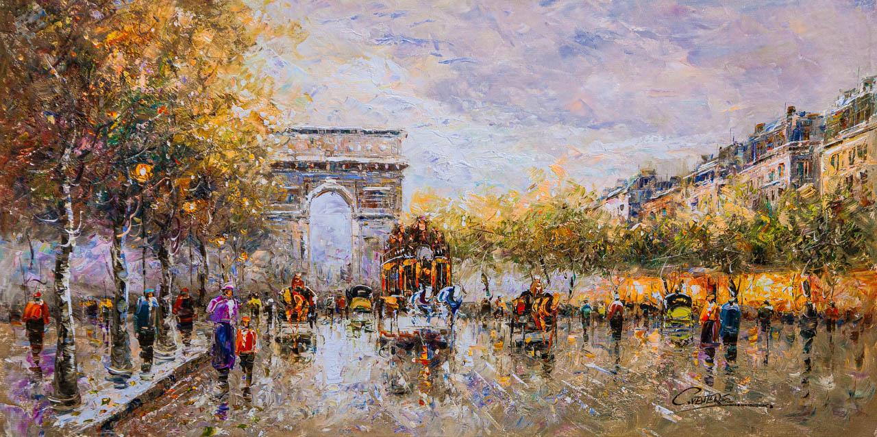 (no name). Champs Elysees, Arc de Triomphe