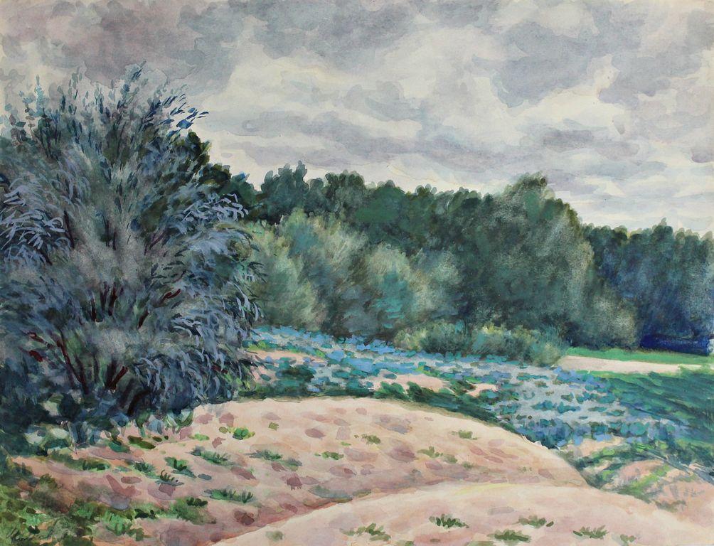 Anatoly Sergeevich Melkov. Flowering fields