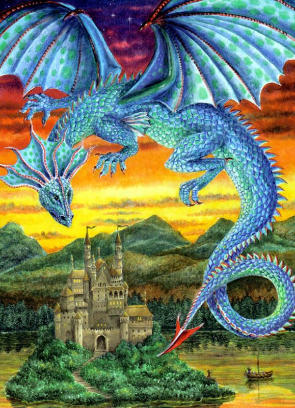 Бирюзовый охранный дракон