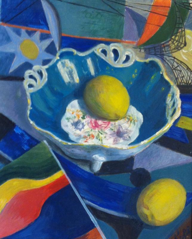 Osip Borisovich Krivoglaz. Vase with lemons