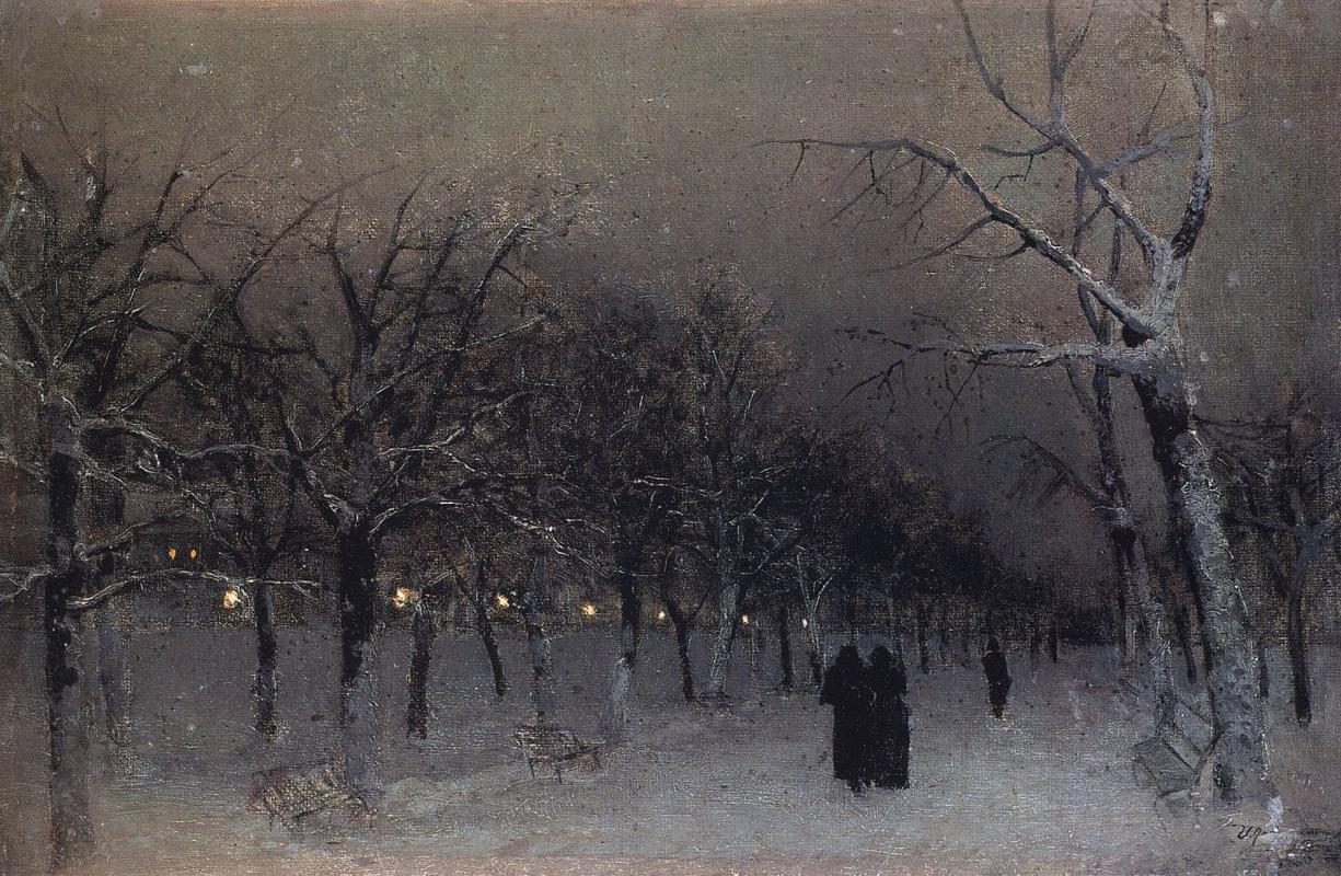 Исаак Ильич Левитан. Бульвар зимой