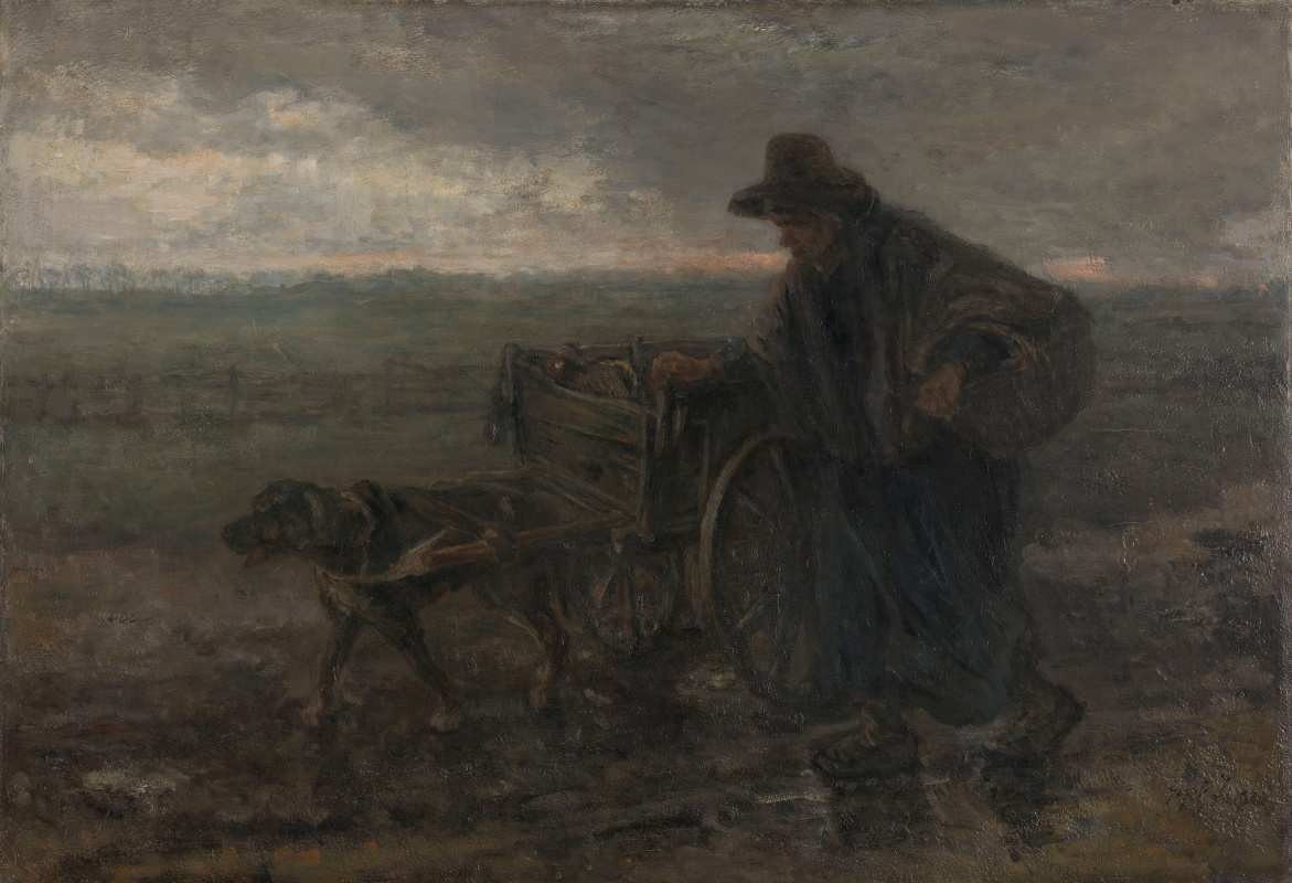 Joseph Israel. On a country road