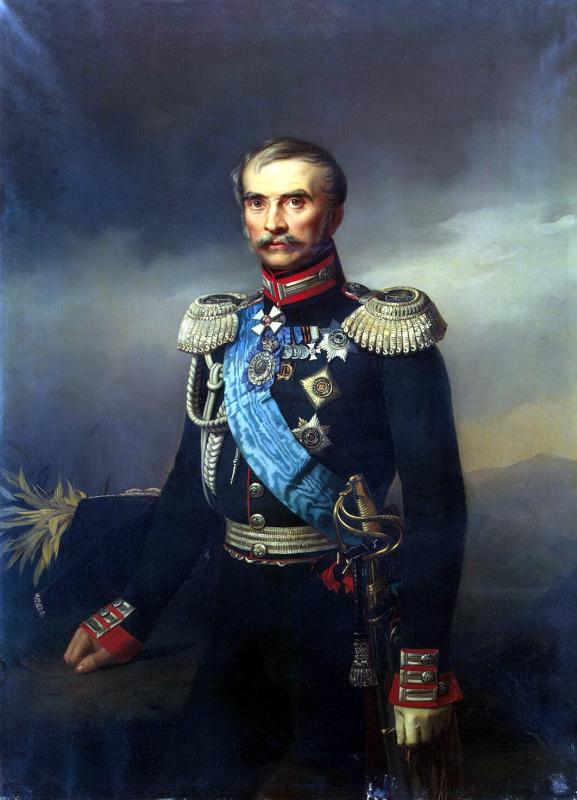 Егор Иванович Ботман. Портрет Иллариона Васильевича Васильчикова