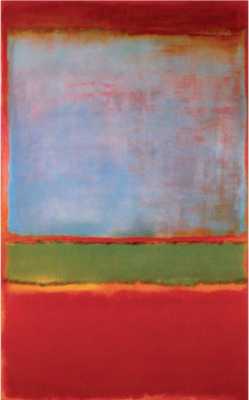 Rothko Mark.  No. 6 (Violet, green, red)