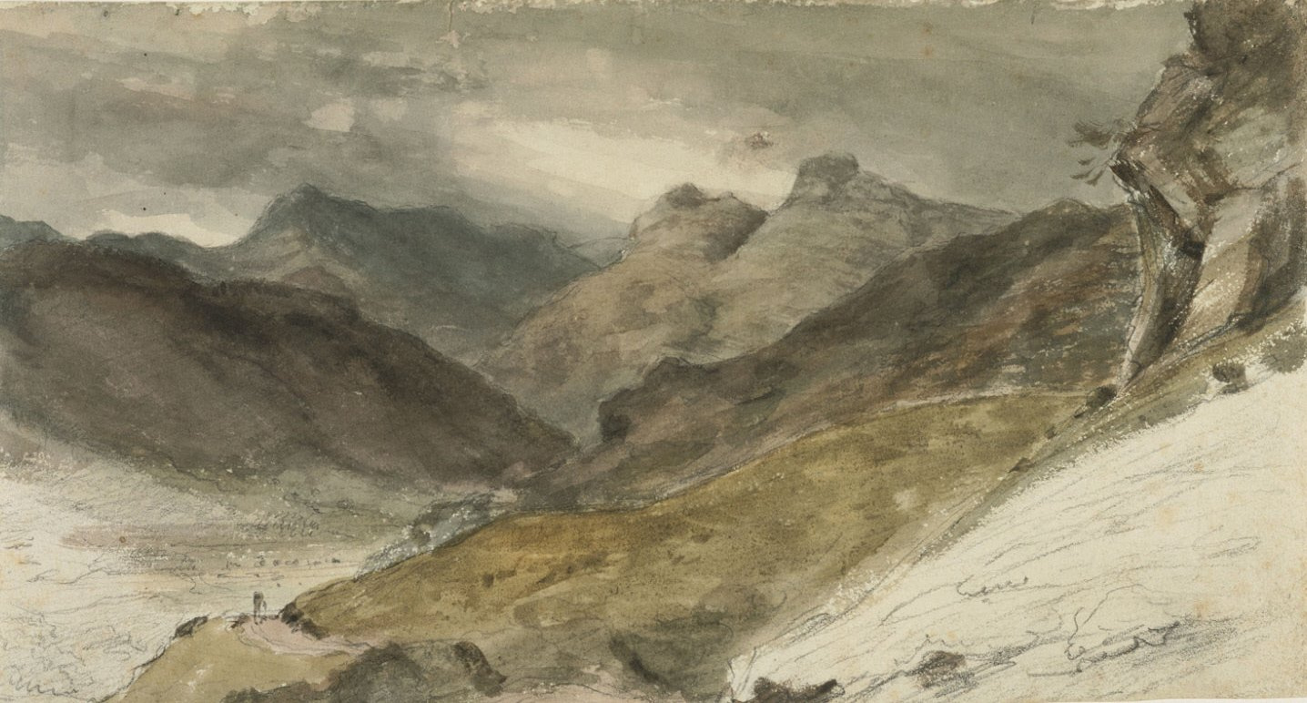 John Constable. Bowfell and Langdale pikes