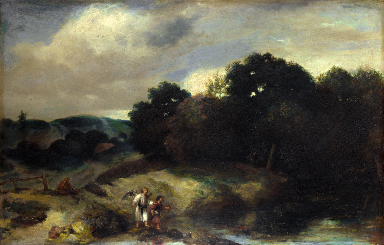 Jan Livens. Landscape with Tobias and the angel