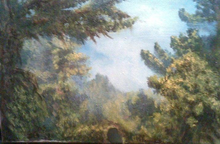 Galya Luchkova. Crimean forest