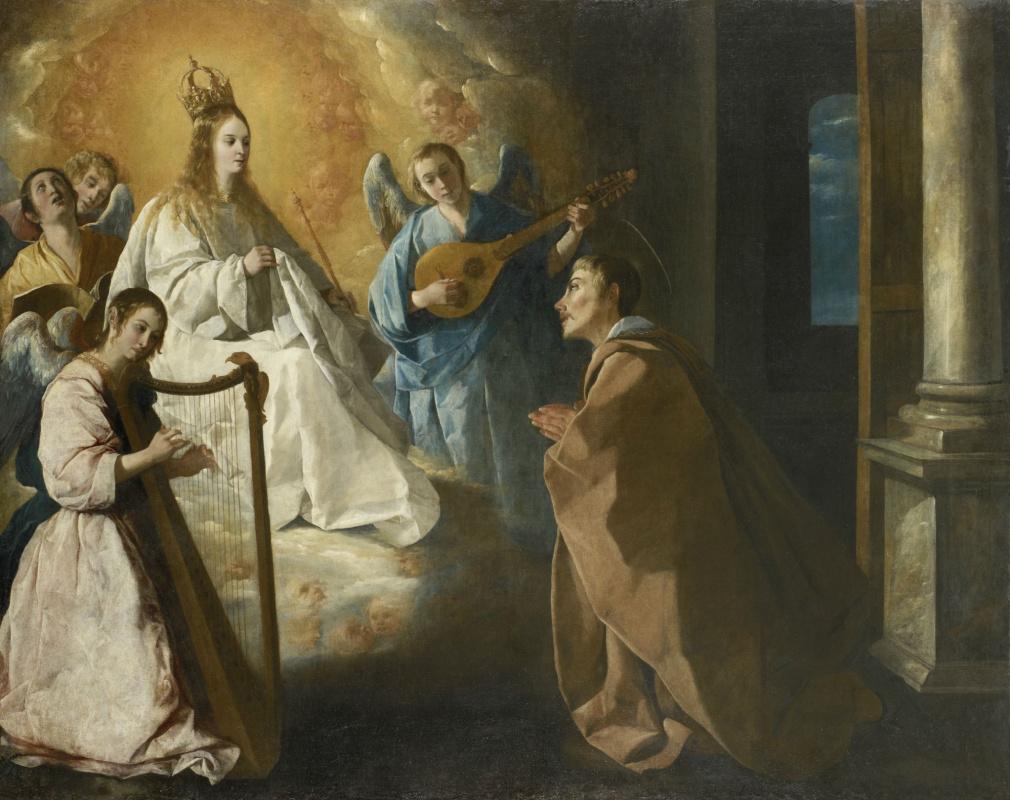 Франсиско де Сурбаран. Явление Богородицы к святому Петру Ноласко